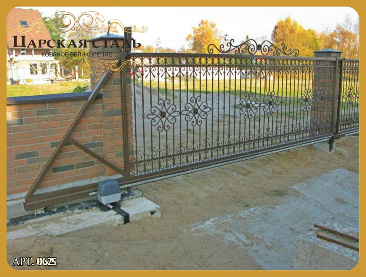 Установка сварных ворот
